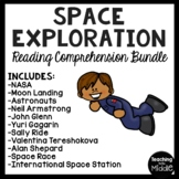 Space Exploration Reading Comprehension Worksheet Bundle Astronauts NASA