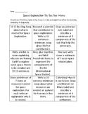 Space Exploration Tic-Tac-Toe Menu 7th grade science