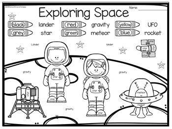 Space Exploration Write the Room