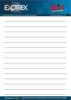 Space Exploration Writing Activity