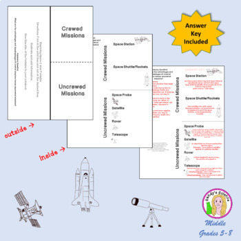 Space Exploration (crew vs uncrewed missions) Foldable