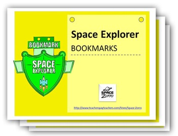 Space Explorer Bookmarks ( 10 sheets with different styles )