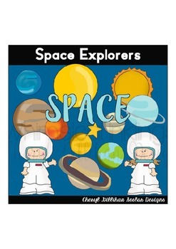 Space Explorers Clipart Collection