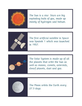 Space Fact Cards and Posters