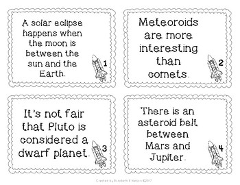 Space Fact and Opinion Scoot