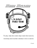 Space Family 2s Addition File Folder Game