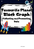 Space - Favourite Planet Survey and Block Graph (UK version)