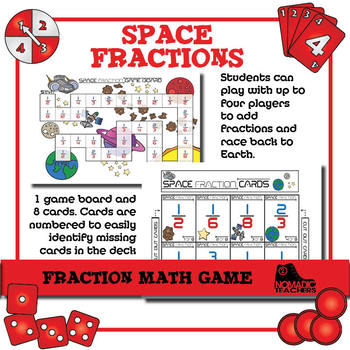 Space Fraction Game involves adding fractions