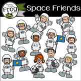 Space Friends Clip Art