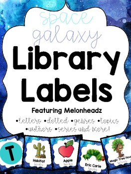 Space Library Labels feat. Melonheadz with corresponding stickers