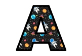 Space, Galaxy, Planets Bulletin Board Letters, Classroom Décor, Alphabet Posters
