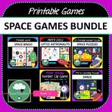 Space Games BUNDLE 5 Space Astronaut Puzzles and Activities for K-2 Kindergarten