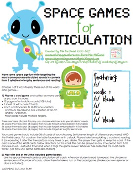 Space Games for Articulation