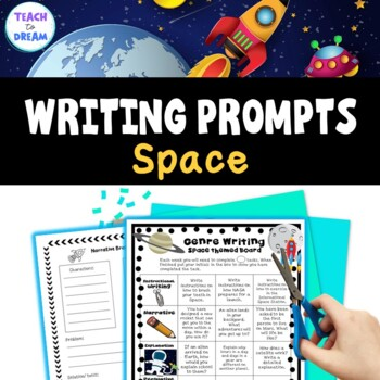 Space Genre Choice Board with Worksheet Templates and Assessments