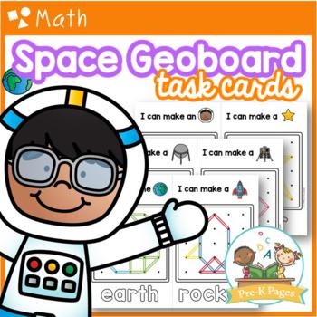Space Geoboards: Shape Activity for Pre-K / Preschool Math
