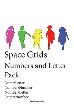Space Grids - Number and Letter 4 Pack