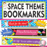 Space Decor EDITABLE Growth Mindset Bookmarks or Name Plates