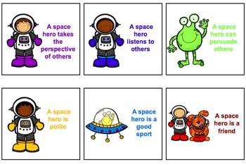 Space Hero Social Skills No Print Activities