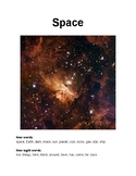 Space: Hi-Lo Text with Paired Comprehension Questions for Special Education