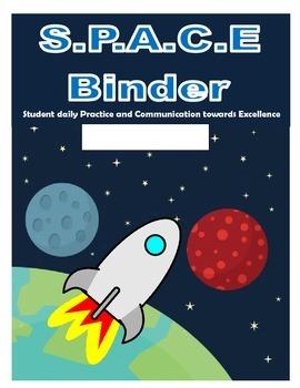 Space Homework Communication Binder