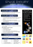 Space Inquiry Infographic Project: Unit & Task Sheet