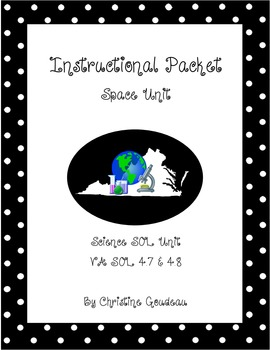 Space Instructional Packet-Worksheets, Quizzes, Study Guid