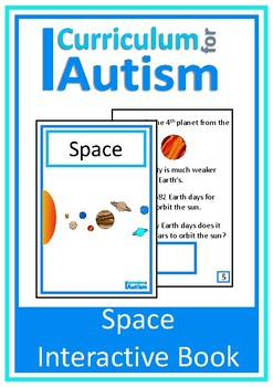 Space Interactive Adapted Science Book, Autism, Special Education