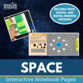 Space Interactive Notebook Pages - Print and Digital Versions