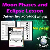 Moon Phases and Eclipse Space Lesson- Interactive Notebook Pages