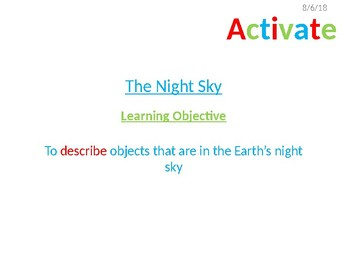 Space Introduction - The night Sky.