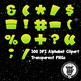 Space Invaders Alphabet Alpha Clip Art