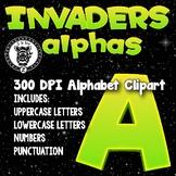 Space Invaders Alphabet Alpha Clip Art