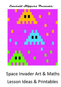 Space Invaders Art Maths Computing Design & Symmetry Lessons & Printables