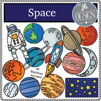Space (JB Design Clip Art for Personal or Commercial Use)