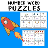 Space Jigsaw Number 1-10 Number Word Puzzles Game