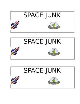 Space Junk Treat Bag Label