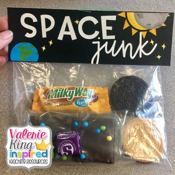 Space Junk Treat Bag Topper : Eclipse Treat Idea