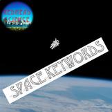 Space Keywords Assessment/Quiz - Bonus Enhanced Font (24+