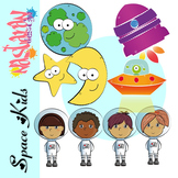 Space Kids Clipart - Space Theme