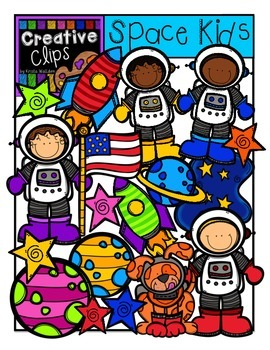 Space Kids {Creative Clips Digital Clipart}