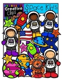 Space Kids {Creative Clips Digital Clipart}