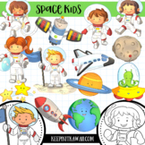 Space Kids Science Clip Art Collection