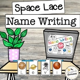 Space Lace Write My Name / Spell My Name Writing Centers /