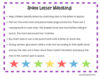 Space Letter Matching