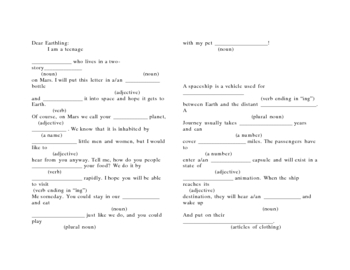 Space Mad Libs