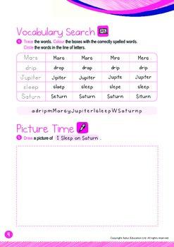 Space - Mars, Jupiter & Saturn (I): Blends DR, SL - Kindergarten, K3 (age 5)