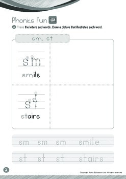 Space - Mars, Jupiter & Saturn (IV): Blends SM, ST - Kindergarten, K3 (age 5)