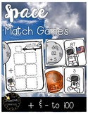 Space Activities - Match Addition and Subtraction to 100! (Double Digit)