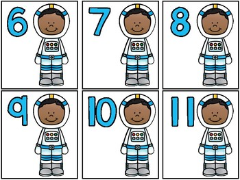 Space Match Up! Ordering & Matching Numbers and Arrangements to 20