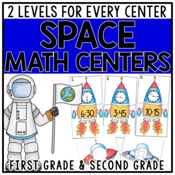 Space Math Centers for 1st & 2nd Grade